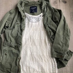Cream Boho American Eagle Dress - Size XS